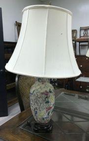 Modern Hand Painted Oriental Style Vase Lamp