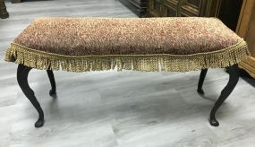Vintage Iron Upholstered Bench