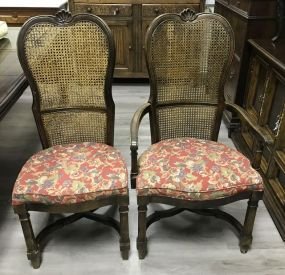 Modern Country French Cane Dinning Chairs