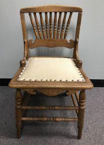 Vintage Oak Spindle Back Side Chair