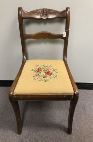 Rose Carved Mahogany Side Chair