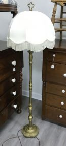 Vintage Painted Gold Floor Lamp