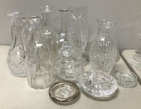 Group of Pressed and Clear Glasses
