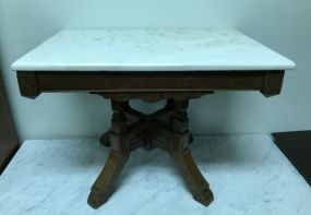 Small East Lake Marble Top Coffee Table