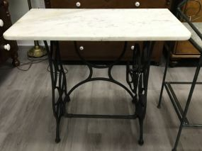 Singer Iron Base with Marble Top