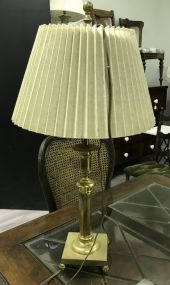 Brass Footed Pole Lamp