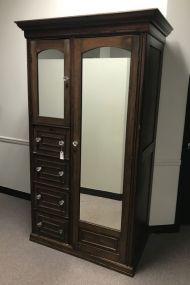 Vintage Mirrored Chifferobe Cabinet