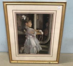 Modern Decor Girl Print Framed