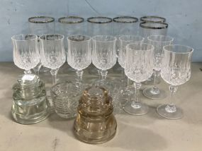Assorted Group of Glasses and Stemware