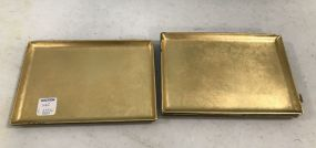 Takahaski Japanese Gold Gilt Plastic Trays