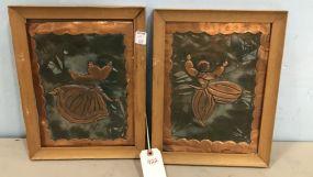 Pair of Copper Panels Artwork