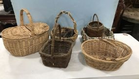 Collection of Decorative Woven Baskets
