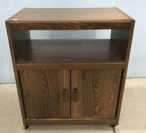 Pressed Wood Microware/TV Cart
