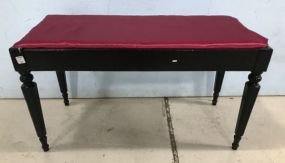 Black Painted Piano Bench