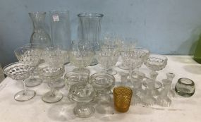 Assorted Clear Glass Lot