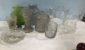 Group of Pressed Glass Peices