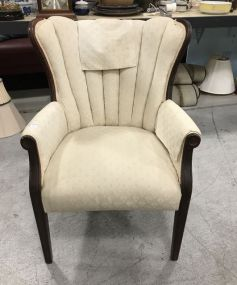 Mahogany Upholstered Arm Chair