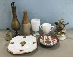 Collectible Plates, Pitcher, Cups, Bird