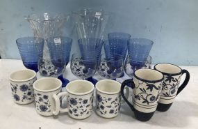 Group of Glass Vases, and Cups