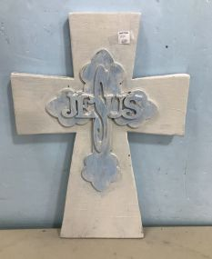 Hand Cross with Jesus Painted