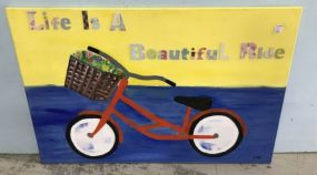 Life is a Beautiful Ride Painting on Canvas