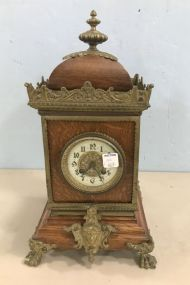 Antique French Oak Mantle Clock