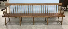 Antique Primitive Windsor Bench
