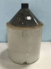 Vintage No. 5 Stoneware Crock Jug