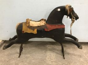 Antique Wood Carousel Riding Horse