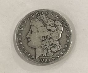 Morgan Silver Dollar 1884-S