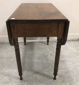 Early Walnut Drop Leaf Table