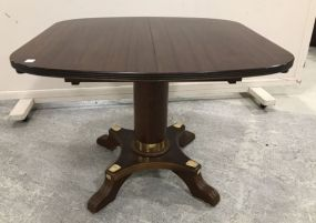 Vintage Oak Pedestal Card/Game Table