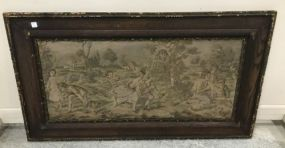 Antique Framed Needle Point of Children Playing