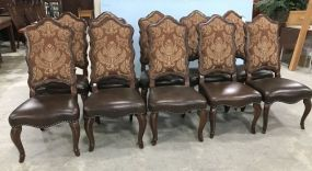10 Schnadig French Style High Back Chairs