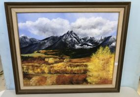 Oil Painting of Mountain Landscape by Marilyn Innman