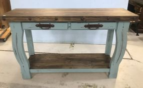 Ashley Furniture New Wood and Painted Wall Console Table