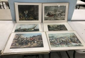 15 Currier and Ives Prints
