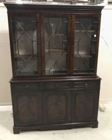 Chippendale Style Break Front China Cabinet
