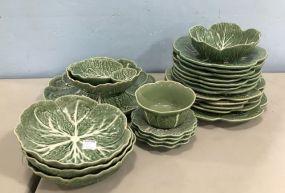 Bordallo Pinneiro Portugal Leaf Pottery Set