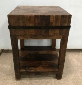 Reproduction Primitive Style Rustic Butcher's Block