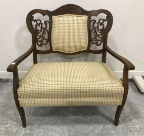 Antique Victorian Small Settee