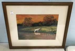 Pastel of Horse by Fran Sam