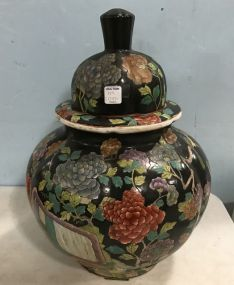 Modern Chinese Large Hand Painted Urn