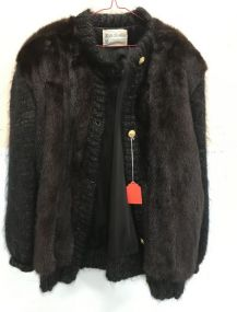 La Boutique Edgewater Plaza Maholany Mink Button Front Sweater Jacket