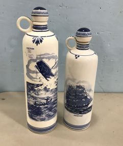 Delfts Holland Hand Painted Jars