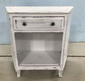 White Painted Wall Commode
