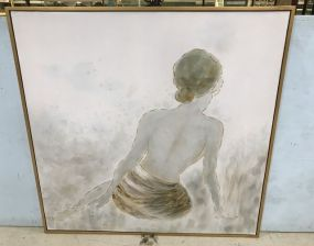 Uttermost Large Lady Giclee Painting