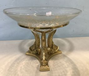 Brass Decor Glass Centerpiece