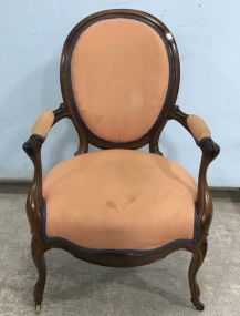 Vintage French Style Arm Parlor Chair