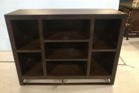New Thin Wood Wall Storage Console/Bookcase